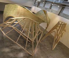 Zaha Hadid's Pleated Shell Structures