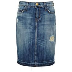Current/Elliott Jodie Distressed Denim Skirt found on Polyvore