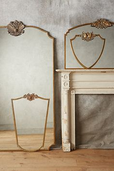 Anthropologie EU Wooded Manor Mirror