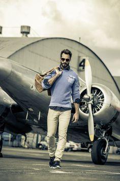 Stylově s CAMP DAVID kolekcí Aviation Camp David, Aviation, Captain Hat, Camping, Fashion, Campsite, Moda, Fashion Styles, Fashion Illustrations