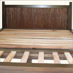 DIY headboard - framed in bamboo pieces Decor, Home Diy, Bamboo Headboard, Headboard, Headboard Styles, Rustic Dining Table Set, Diy Home Decor, Home Decor, Bamboo Crafts