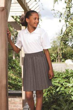 Blue Max Banner Hexham Pull on knife pleat #school_uniform_skirt. Elasticated Waist Band. Teflon Finish. 100% Polyester.