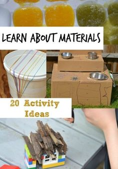 Great ideas for learning about materials and their properties. #KeyStage1 #Scienceforkids