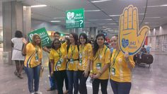 Pope2You team arrival at the Airport of Rio 2