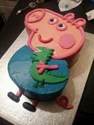 Image result for boys peppa pig birthday cake