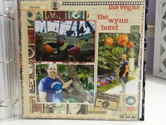 Another Las Vegas scrapbook layout...this one featuring the lobby of the Wynn Hotel.