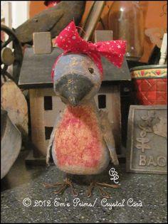 Primitive Country Decor Mini Bonnie Bluebird Doll folk by emsprims