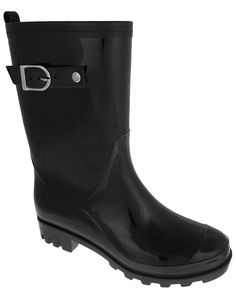 Capelli New York Solid With Back Pull Loop, Leather Trim And Buckle Strap Jelly Rain Boot >>> More info could be found at the image url.