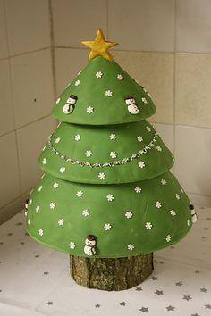 3 Tier Christmas Tree cake