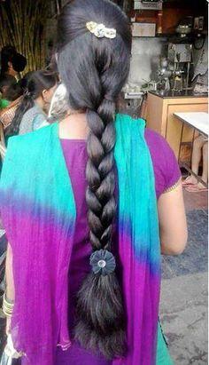 Indian Long Hair Braid, Braids For Black Hair, Beautiful Braids, Beautiful Long Hair, Beautiful Women, Indian Hairstyles, Braided Hairstyles, Long Silky Hair, Thick Hair