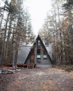 A-Frame w/ metal roof