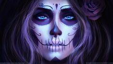 Dia de los Muertos by MagicnaAnavi.deviantart.com on @DeviantArt Just gotto love these de los Muertos....