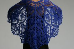 Crochet Pineapple Stitch Shawl Pattern | Pineapples and Fish