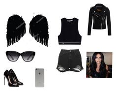 """Dark angel"" by spotlightlove on Polyvore featuring T By Alexander Wang, Topshop, Elizabeth and James, Superdry and Incase"