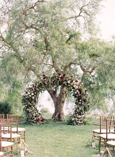 Red & Pink Bloomed Wedding Arbor