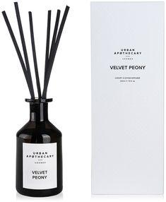 Urban Apothecary London - Luxury Reed Diffuser - Black Glass - Velvet Peony
