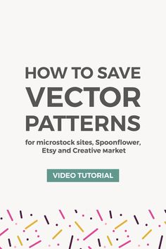 In this tutorial, I want to show you how to save patterns in Illustrator and Photoshop for uploading to microstock websites, selling them as digital products, and printing them on fabrics using Spoonflower. #illustrator #adobeillustrator #spoonflower #patterndesign #graphicdesign