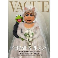 Kermit & Miss Piggy on the cover of vague magazine