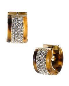 Michael Kors Pave Huggie Earrings, Tortoise $95