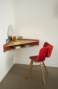 étagère murale design et bureau 2 en 1- Briccola-GE par ColéItalian Design Label