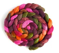 Living Color on 80/20 Merino/Tussah Silk. Threewatersfarm.com and threewatersfarm.etsy.com   Living Color was our 2018 September Top of the Month Club offering and it just became eligible for general release! TOMC offerings are exclusive to TOMC members for a six month period! Come and join us; signups are still open for April delivery! Details here: http://www.threewatersfarm.com/fiber-clubs/ Three and six month subscriptions are available through our Etsy shop! threewatersfarm.etsy.com…