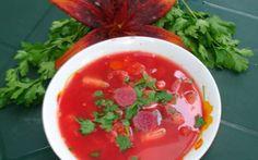 Ciorbă de sfeclă roșie - Romanian Borscht Supe, Borscht, Romanian Food, Salsa, Vegan, Ethnic Recipes, Salsa Music, Vegans