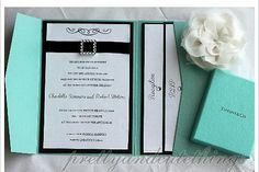 * Tiffany blue pocket invitation