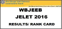 WBJEE JELET Result 2016