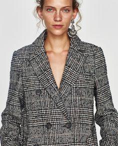 Imagen 2 de ABRIGO CUADROS de Zara Check Coat, Zara United States, Blazer, Shorts, My Style, Leather, Jackets, Clothes, Winter 2017