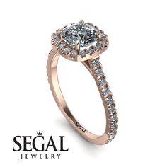 Cushion Diamond Halo Engagement Ring - Jade No. Halo Diamond Engagement Ring, Diamond Wedding Rings, Cushion Diamond, Proposal Ring, Diamond Anniversary Rings, Diamond Sizes, Engagement Gifts, Jewels, White Gold