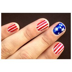 Nail Art 4th of July ❤ liked on Polyvore
