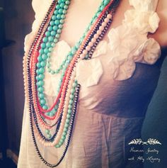 Seabreeze and Papaya make an excellent #pdcombo Premier Designs Jewelry Collection ShawnaWatson.MyPremierDesigns.com access code: bling