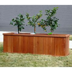 Outerior Decor Products Churchill Rectangular Cedar Planter - 60 In