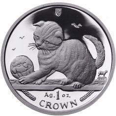 Isle of Man 2000 - Scottish Fold Cat - Proof Fine 999. Silver Coin