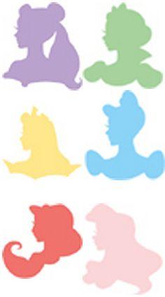 disney princess silhouettes - Buscar con Google