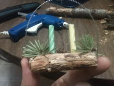 Mini Yule Log Tree Ornament for Yule Sabbat to Hang on Your Tree or in a Wondow or Sit on Your Altar