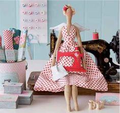 ATELIER CHERRY: bonecas de pano.Con patrones.