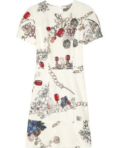 Camilla and Marc Jewelry-print cotton and silk-blend dress