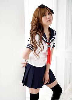 klassische japanische Schuluniform, Sailor Suit, School Girl Uniform Cosplay