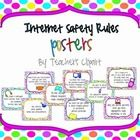 Teachers Pay Teachers link to several posters you can buy that explain internet safety: colorful, and age appropriate for young students Computer Lab Posters, Technology Posters, Computer Class, Educational Technology, Computer Center, Computer Literacy, Computer Teacher, Technology Lessons, Internet Safety Rules