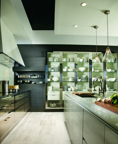 Modern metals and wood in a contemporary kitchen #nuHausDesign
