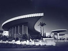 Designed by Weaver & Drover, now called DWL, in the 1960s, this Chase Bank in Phoenix's upscale Arcadia neighborhood, pays homage to Frank Lloyd Wright's architecture.