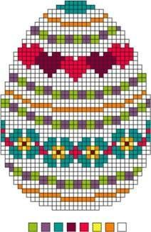 Three Needlepoint Easter Eggs Set 2 - Instructions for Easter Eggs: