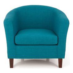 Poppy Teal Fabric Tub Chair - SofasWorld