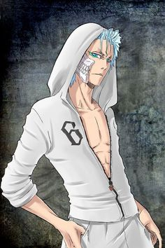 Grimmjow looks more awesome with a hoody ; Manga Anime, Anime Nerd, Manga Boy, Bleach Characters, Anime Characters, Jaguar, Bleach Manga, Hot Anime Guys, Anime Fantasy