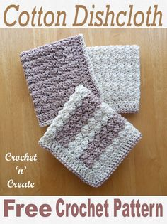 Easy to make cotton dishcloth, a free crochet pattern crocheted in silt stitch, made with 100% cotton yarn it is great for dishes and wiping down worktops, get the pattern on #crochetncreate #freecrochetpatterns #freecrochetdishcloth #crochet #crochetcloth