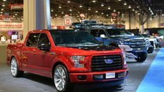 View detailed pictures that accompany our 2015 Ford Customs: SEMA 2014 article with close-up photos of exterior and interior features. Cool Trucks, Big Trucks, Lowered Trucks, Lowered F150, Custom F150, Ford F150 Accessories, Ford Svt, Custom Pickup Trucks, Big Ride