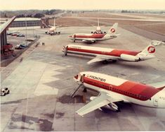 4fe34abc38 Cheyenne WY early 1980s. These planes apparently diverted to CYS due to  weather in DEN