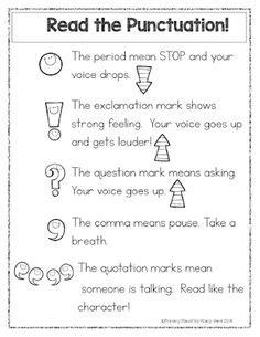 Read the Punctuation poster Freebie!                                                                                                                                                                                 More