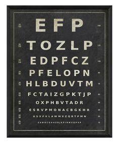 Eye Chart I Framed Print #zulily #zulilyfinds